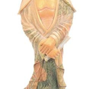 One of a Kind Hand Carved and Batiked Quan Yin Statue