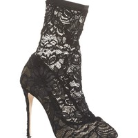 Dolce&Gabbana Stretch Lace Sock Bootie (Women) | Nordstrom