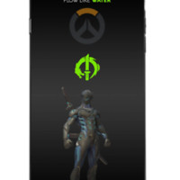 Genji Overwatch Famous Games Fit Hard Case For iPhone 6 6s 7 8 Plus X Cover +