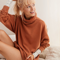 Aerie Turtleneck Sweatshirt, Orange Spice