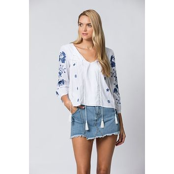 Ines Floral Embroidery Blouse
