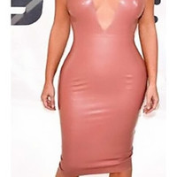 Barbara Bodycon Leather Dress