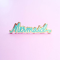 Mermaid Lapel Pin - Blue Glitter *Pre-order*