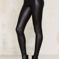 Real Slick Coated Leggings