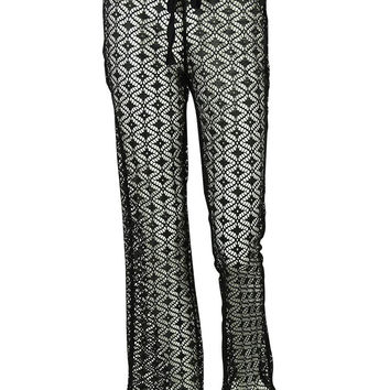 Miken Women's Laced Pants Buttom Cover ups (M, Black)