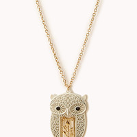 Standout Filigree Owl Necklace