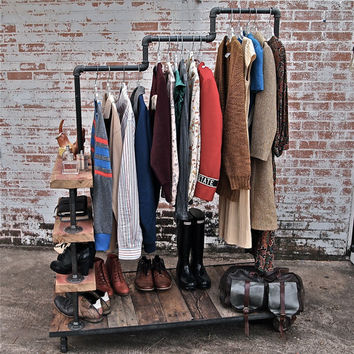 Garment Rack Triple Level By Stellableudesigns On Etsy