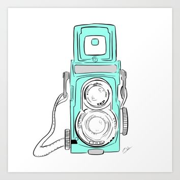 Vintage Camera Art Print by Koma Art