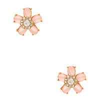 FOREVER 21 Sugar Coated Floral Studs Peach/Gold One