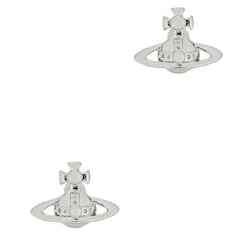 Lorelei silver tone stud earrings