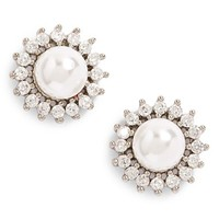 Women's Samantha Wills 'Distance of Dawn' Faux Pearl Stud Earring - Silver/ White Pearl
