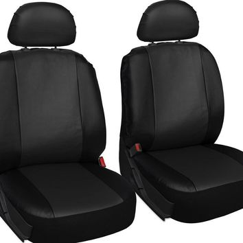 6pc faux leather bucket seat cover set for car/truck/van/suv, airbag compatible Case of 10