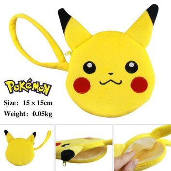 Pikachu Mini Purse Money Bag Girls Boys Love Zipper Money Pocket Wallet Japanese Anime Mini Bags without Tracking InfoKawaii Pokemon go  AT_89_9