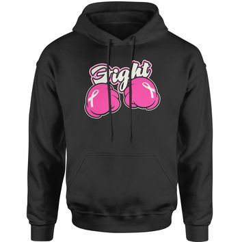 Fight Cancer Pink Cartoon Boxing Gloves Adult Hoodie Sweatshirt