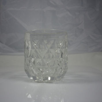 Fostoria York Crystal Rocks Double Old Fashioned Glassware