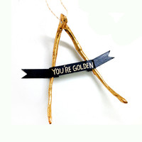 You're Golden Wishbone Ornament