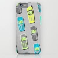 Vintage Cellphone Pattern iPhone & iPod Case by Chobopop