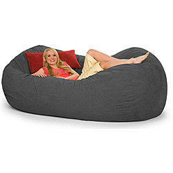 Slacker Sack 8 Foot Oval Charcoal Grey From Overstock