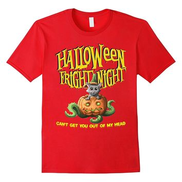 Fright Night Can't Get You Out My Head Cat Pumpkin T-Shirt
