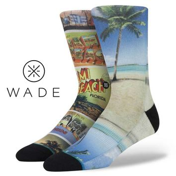 Stance | Ocean Drive Tan, , Aqua, Blue, Red socks | Buy at the Official website Main Website.