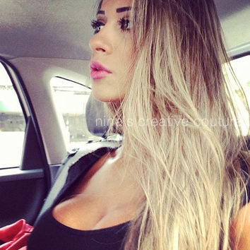 Ash Blonde Ombre Hair Ombre Clip In Hair From Ninas Creative