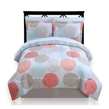 The Big One Dahlia Dot Reversible Bed Set
