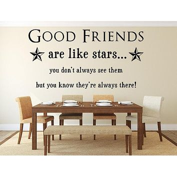 Good Friends Are Like Stars Wall Quotes