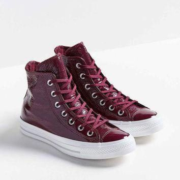 LMFON converse chuck taylor all star patent leather high top sneaker