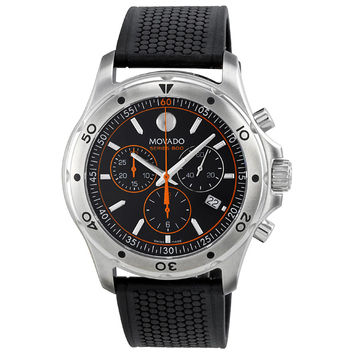 Movado Series 800 Black/Orange Chronograph Mens Watch 2600100