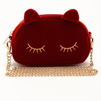 Ruby Red Cat Clutch