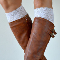 Ivory Lace boot cuff accessories