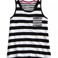 Striped Pocket Tank | Girls {category} {parent_category} | Shop Justice
