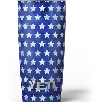 Blue Watercolor Stars Yeti Rambler Skin Kit