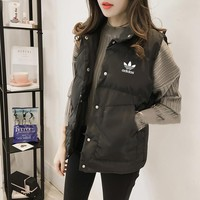 """Adidas"" Women Fashion Solid Color Sleeveless  Cotton-padded Clothes Vest Jacket Coat"