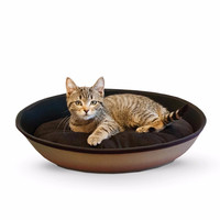 "K&H Pet Products Mod Sleeper Cat Bed Medium Tan / Black 23"" x 16"""