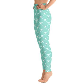 Mermaid fish scale print Leggings