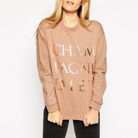 ASOS Sweatshirt with Champagne Print