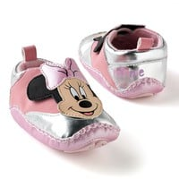 Disney Mickey Mouse & Friends Minnie Mouse Metallic Sneaker Shoes - Baby (Pink)