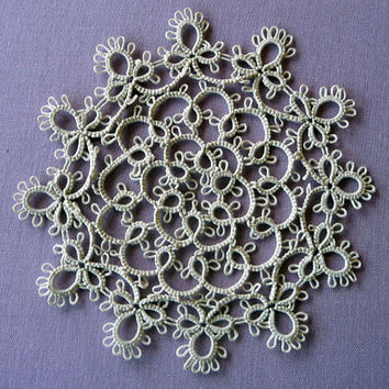 Handmade doily - Handcrafted Ivory Doily -Home decor - Housewarming - tatting - gift for her - gift for wife - wedding - table decor