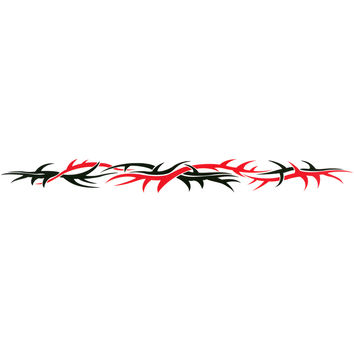 TRIBAL THORNS Arm Band Temporary Tattoo 1.5x9