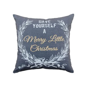Merry Lil Christmas Pillow 24x24