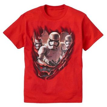 DCCKX8J Star Wars: Episode VII The Force Awakens Stormtroopers Tee - Boys 8-20 Size