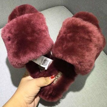 UGG: wool in one word drag Fashion Casual slippers 4 Color G