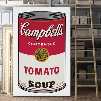 Pop Art Print Wall Painting Andy Warhol Tomato Soup Abstract Art Decorative Picture Wall Art Prints For Living Room Unframed