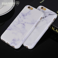For iPhone 7 plus Marble Stone Texture Pattern Soft TPU Silicone Case For iPhone 7 7 plus 6 6s plus Marble Phone Case