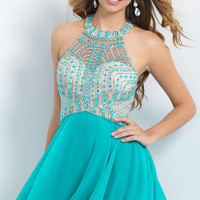 Short Halter Intrigue by Blush Homecoming Dress