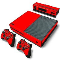 Red Basic Colors Skin - Xbox One Protector