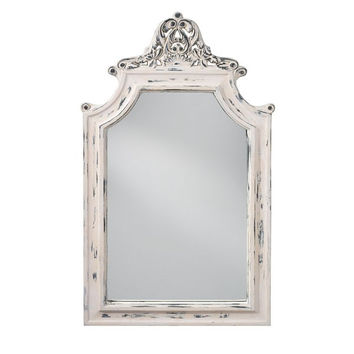 Murray Feiss Hand Painted White Mirror - MR1189HPW