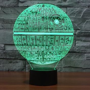 Star Wars Force Episode 1 2 3 4 5  Death  3D Deco Light Lamp Shade Darth maul R2D2 BB8 Rogue One  7 Colors Changing For Christmas Gifts Toys AT_72_6