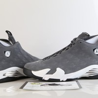 BC SPBEST DS Nike Air Jordan Retro 14 Oregon Ducks PE Grey White Lux Suede Promo Sample size 14